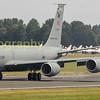Turkish airforce Boeing KC-135R Stratotanker departing Riat