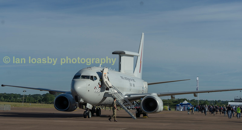 A30-006 is a Royal australian Airforce E-7A Wedgetail from 2 Sqn RAAF
