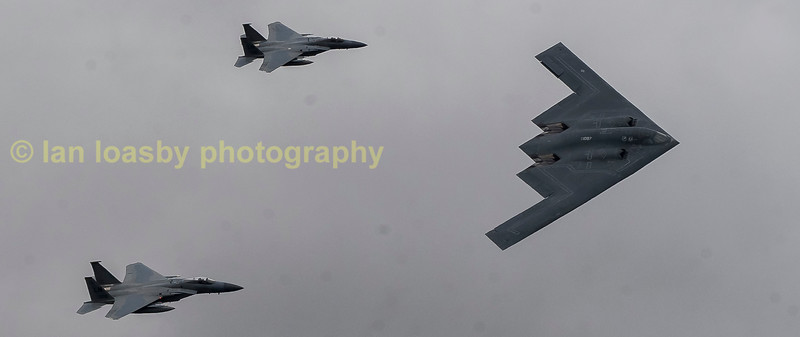 The B2 with her escorts