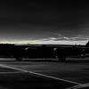 Morning silouette of B-52 60-0022