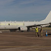 The USN Boeing Poseiden being readied for departure on monday morning