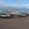 F-16CM's from 48h FW / 493rd FS;  91-0412 + 90-0813 on static display