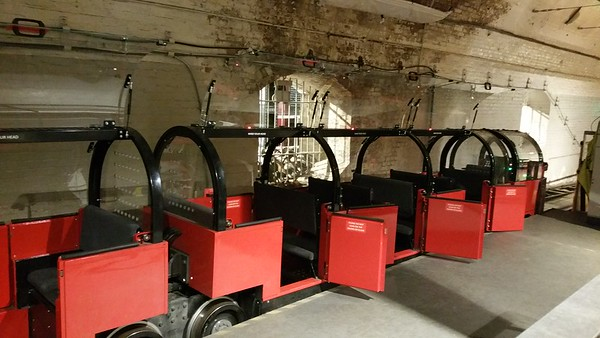 Before the seats were added,all these compartments would have held sacks of mail.