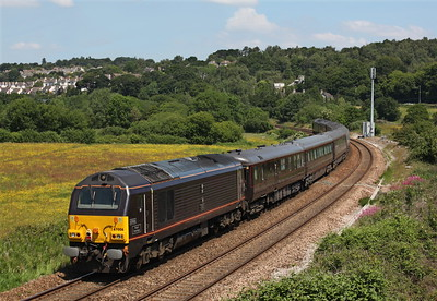 Royal Train passes Langford Bridge