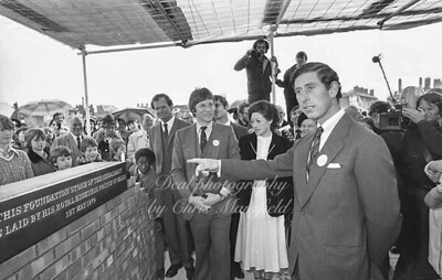 May 1st 1979.  Prince Charles lays foundation stone at the Albany theatre, Deptford