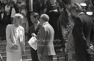 Prince Charles visiting St Pauls church, Deptford