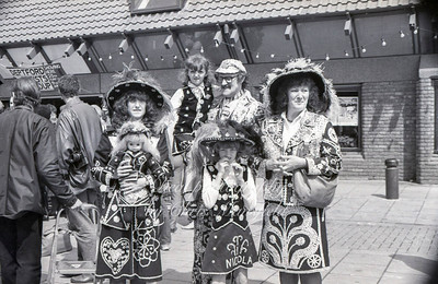 1982.  Pearly royalty at the opening of the Albany theatre in Deptford