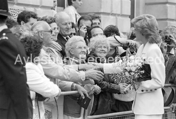 Diana Princess of Wales at Aylesbury May 25th 1989