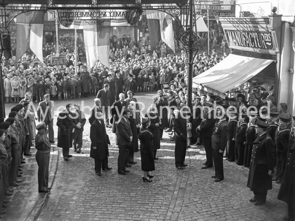 Duke of Edinburgh in Market Square, Oct 14th 1952