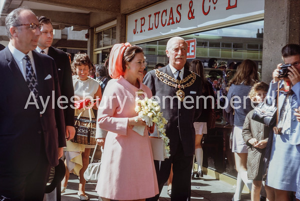 Princess Margaret visits Friars Square, July 1970