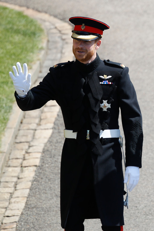 . Britain\'s Prince Harry arrives for the wedding ceremony at St. George\'s Chapel in Windsor Castle in Windsor, near London, England, Saturday, May 19, 2018. (Odd Anderson/pool photo via AP)