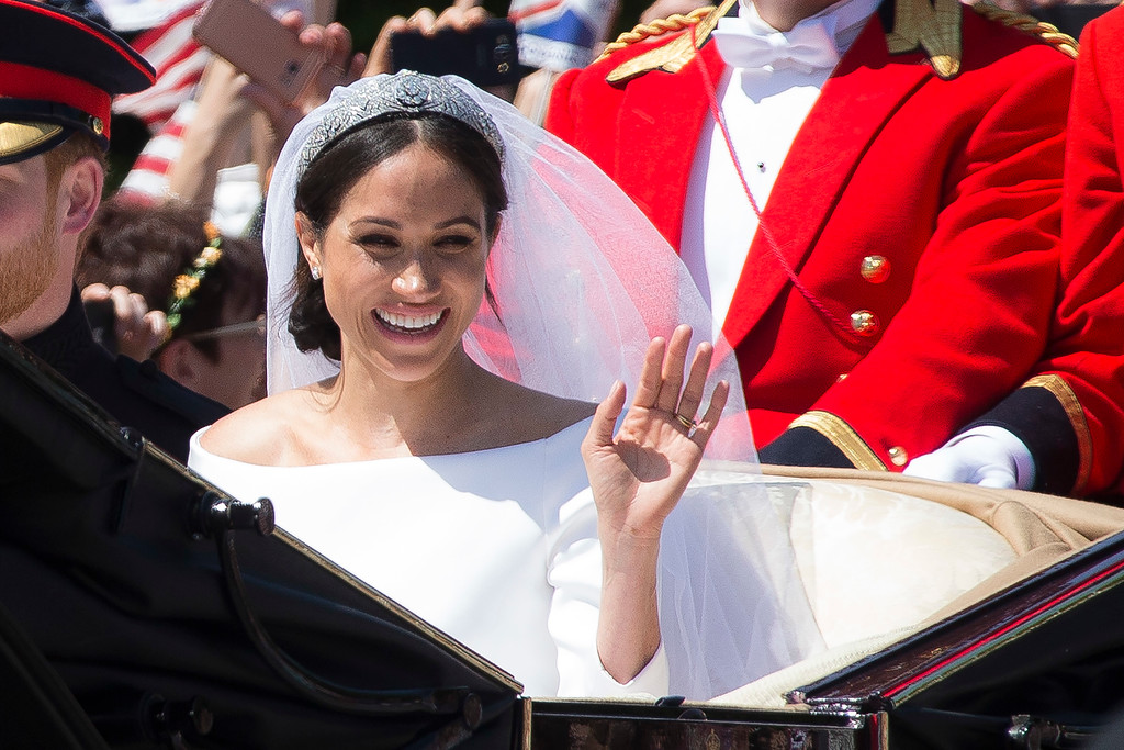 . Britain\'s Prince Harry (not pictured) and his wife Meghan Markle leave after their wedding ceremony, at St. George\'s Chapel in Windsor Castle in Windsor, near London, England, Saturday, May 19, 2018. (Photo by Joel C Ryan/Invision/AP)