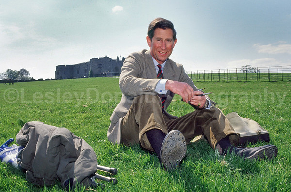 Prince Charles painting in Wales. Exclusive picture : © Lesley Donald