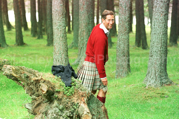 Prince Charles at play on Balmoral Estate. Exclusive Picture: ©Lesley Donald