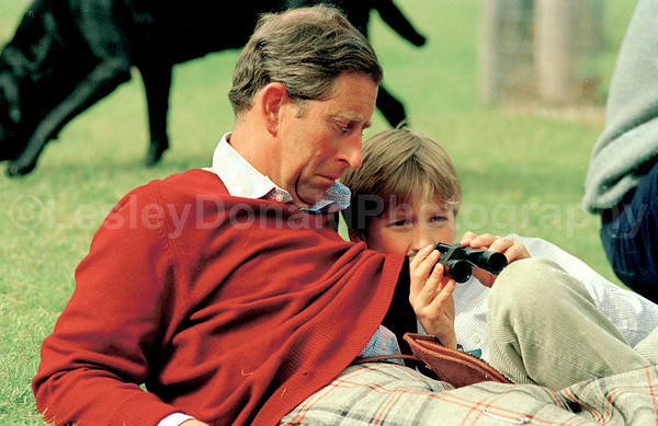 Prince Charles and Prince William at play on Balmoral Estate. Exclusive Picture © Lesley Donald