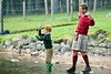 Prince Charles teaches Prince Harry to Fly-fish on Balmoral Estate : Exclusive picture : ©Lesley Donald