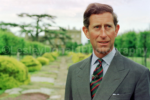Prince Charles at Highgrove. Exclusive picture ©LesleyDonald