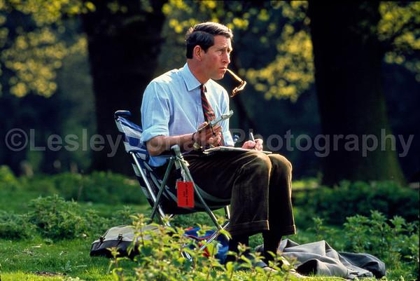 Prince Charles painting in Wales U.K. Exclusive Picture: ©LesleyDonald