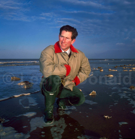 Prince Charles on Norfolk Beach near Sandringham. Exclusive picture ©LesleyDonald