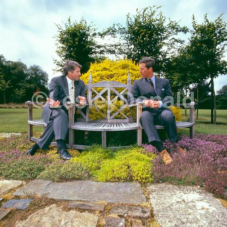 Prince Charles and TV presenter Jonathan Dimbleby.Exclusive picture ©LesleyDonald