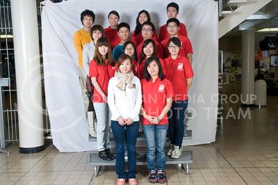1. Juli Liu (Architecture Engineering, JR); 2. Sijiao Chen (Accounting, JR); 3. Fei Yang (Finance, JR); 4. Chen Anzhi (Accounting & Finance, JR); 5. Li Dandan (MBA); 6. Xiaoxue Wang (Accounting, SR); 7. Yuqin Xu (Accounting, SOPH); 8. Cong Ye (Accounting & Finance, JR); 9. Chae Pan (Finance, SR); 10. An Tao (Finance & Accounting, SR); 11. Xita Wang Yi (Chemical Engineering, FR); 12. Shengjie Fan (Marketing, SR); 13. Jiayi Song (Mass Communicationsl JR); 14. Yi Wang (Computer Science, FR)