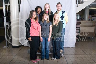 1. Jessica Laster (Secondary Ed-Math, SR); 2. Megan Gibson (Elementary Ed, JR); 3. Ladyen Aiello (Secondary Ed, JR); 4. Chloe Nelms (Secondary Education, JR); 5. Amy Hunt (Elementary Ed, JR); 6. Chris Huggard (Secondary Ed, JR)