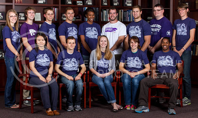 Student Planning Association  Front row: Yihong Yan, Everett Haynes, Kathryn Rush, Ashley Klingler, James Rivers Back row: Deanne Peterson, Eric Conner, Andrew Thomason, Mitchel Loring, Lauren Garrott, John Heinan, Taylor Cox, James Wood, Benjamin Chmiel  (Photo by Evert Nelson/Royal Purple)
