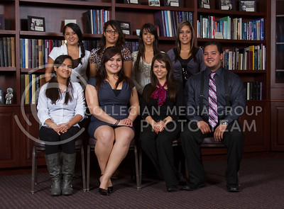 League of United Latin American Citizens (LULAC)  Cynthia Arias-Dowling, Jessica Jasso, Pamela Maynez, Mac Benavides  Madai Rivera, Jennifer Ortiz, Carla Medrano, Yazmin Ramos   (Photo by Evert Nelson / Royal Purple)