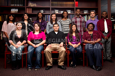 Multicultural Honors Society  Liliana Castro, Emily Harris, Jose Martinez-Gurow,Jodi Roberts, Carla Jones (Advisory)  Jamilah Walkins, Anna Salas, Angelique Foye, Ruddy Yanez, Laurra Garrett, Blake Franklin, Adrian Gomez, Stephon Hardridge   (Photo by Evert Nelson / Royal Purple)
