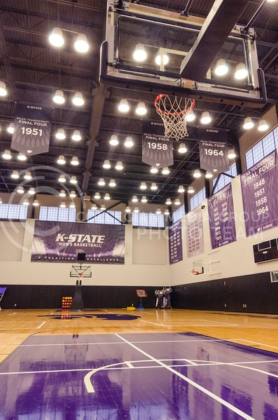 Both the men's and women's basketball teams benefit by getting their own practice courts and avoiding trying to work around each other's practice schedules while sharing Bramlage Coliseum previously for practices.
