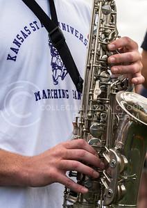 Charlie Wilks during band practice in Memorial Stadium on Sept. 24, 2013. Photo by Hannah Hunsinger | Royal Purple