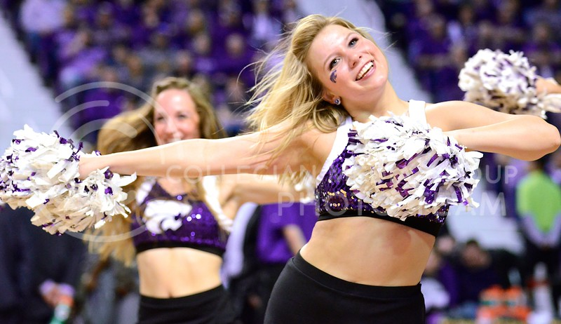 Classy Cats get the crowd hyped during the men's basketball game against Baylor March 8, 2014, in Bramlage Coliseum.