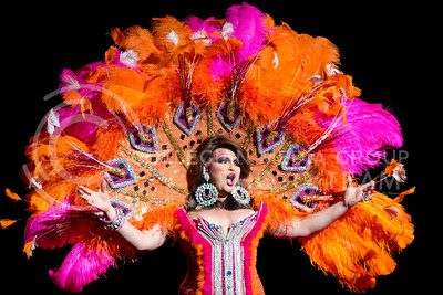 """Chelsea Peral performs """"Catch Mt Breath""""  at the 10th annual KSU Drag Show in McCain auditorium on Saturday night."""