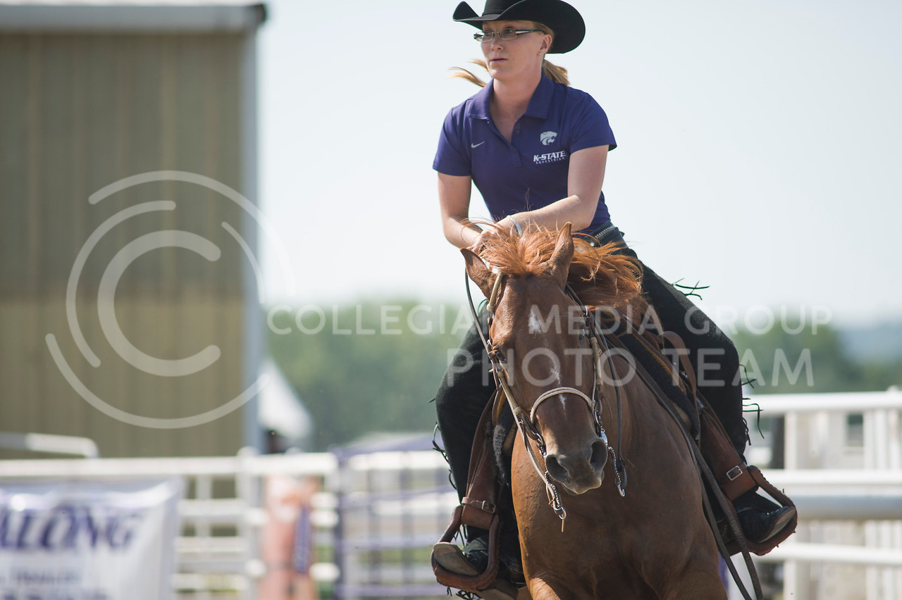 Senior western rider Margaret Peine competes in the Equitation on the Flat on Sept. 8, 2013 at Timber Creek stables.  K-State defeated Deleware State, Texas A&M and SMU, as well as big 12 foe Oklahoma State.