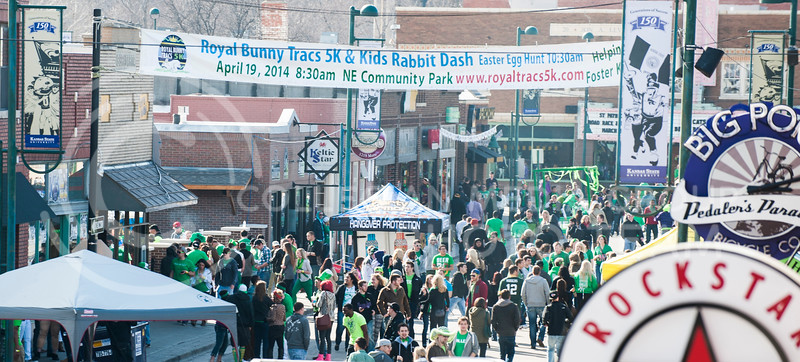 Aggieville began to fill up Saturday afternoon as people began to fill in for the seventh annual Fake Patty's day.