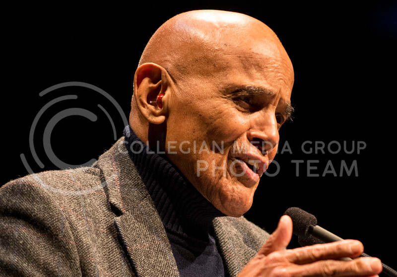 Harry Belafonte, singer, songwriter, actor and social activist, was a guest of the Black Student Union and spoke in McCain yesterday afternoon.
