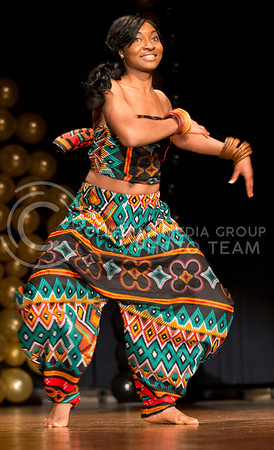 Kabila Gana performs traditional and modern versions of an African dance as her talent.