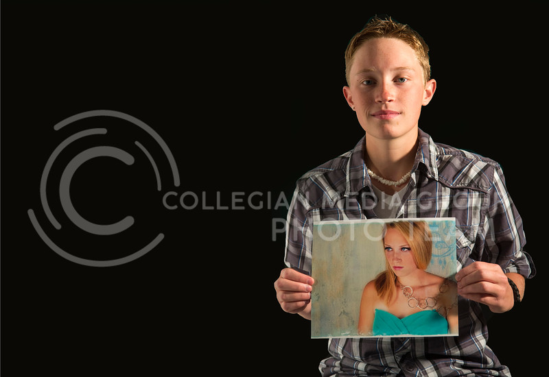 Taylor Suppes, sophomore in agricultural business, shows how he looks before he began transitioning. Suppes, a female to male transgender, was born a woman and his gender adhered to that social norm before he began his transition.