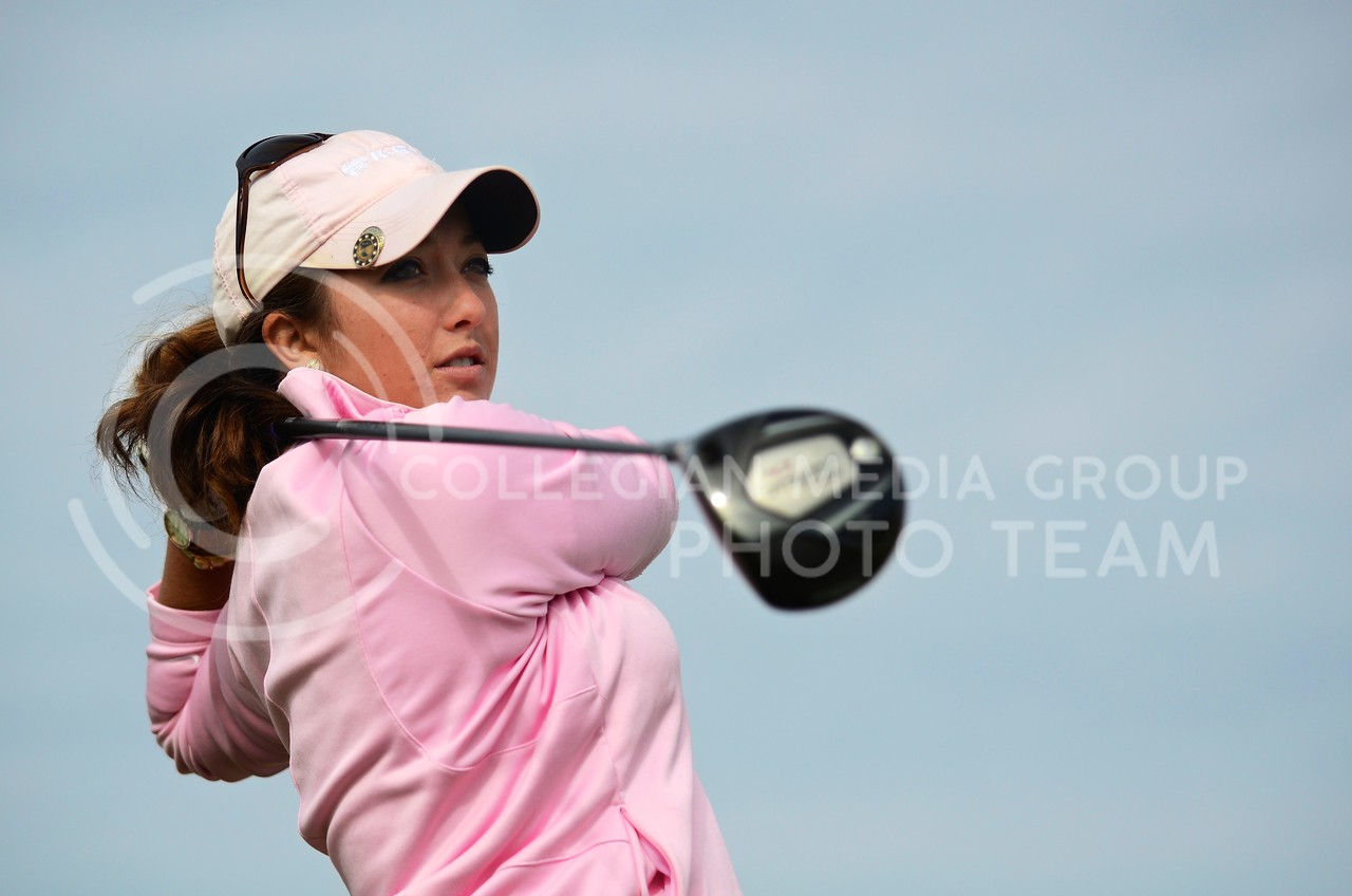 Gianna Misenhelter, senior in public relations, is the only senior on the K-State women's golf team this year.