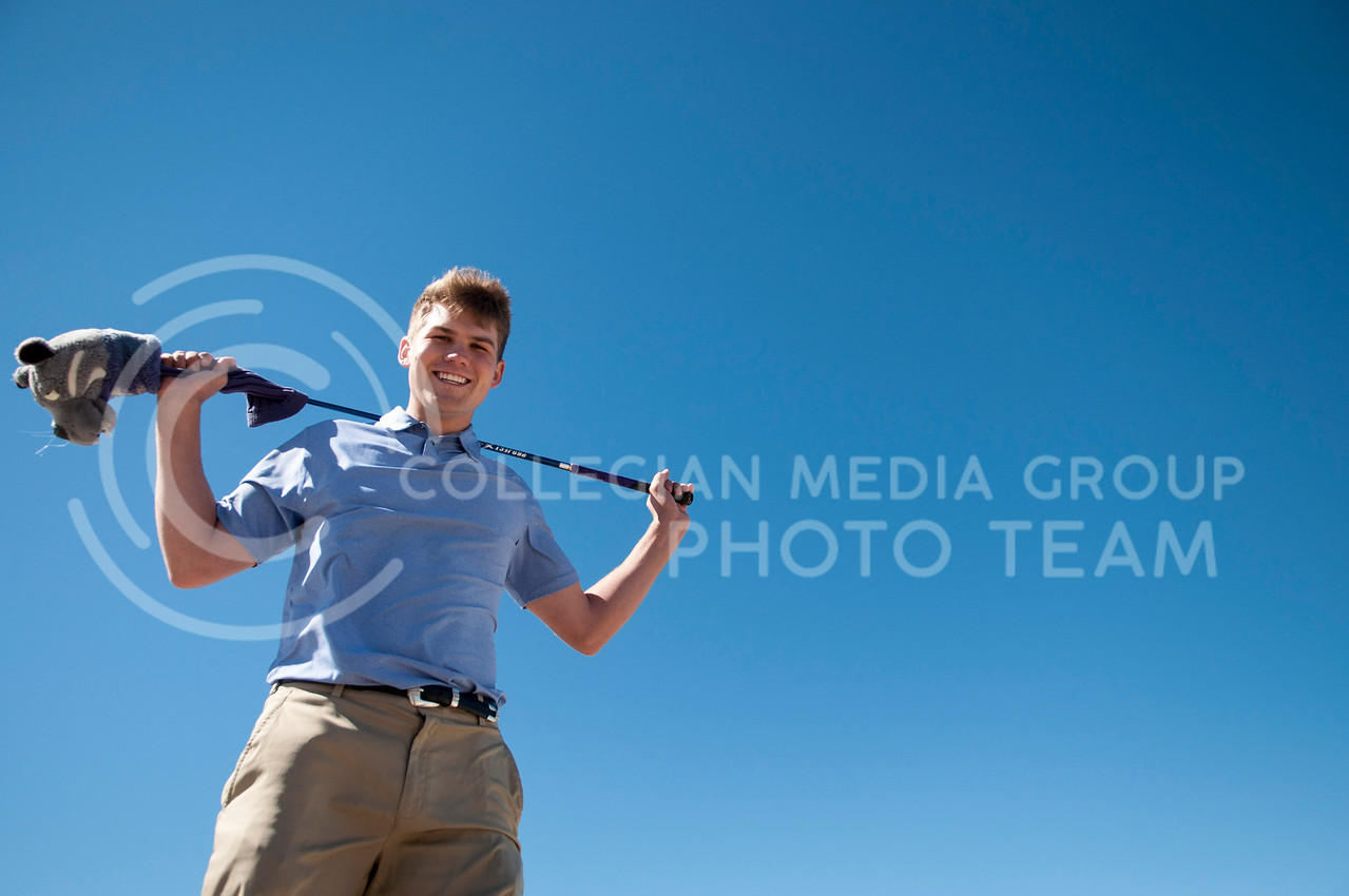 David Klaudt poses on top of the parking garage on March 14.