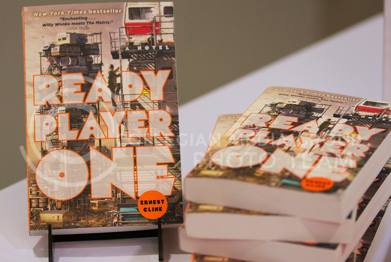 Ready Player One, written by Ernest Cline, is a dystopian novel featuring a fictional world where the main character must find three keys to win the prize. Ready Player One was chosen as this years common book for K-State incoming students.