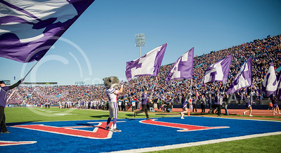 Willie celebrates a touchdown at Lawrence during the 31-10 win over the Jayhawks on Nov. 30.