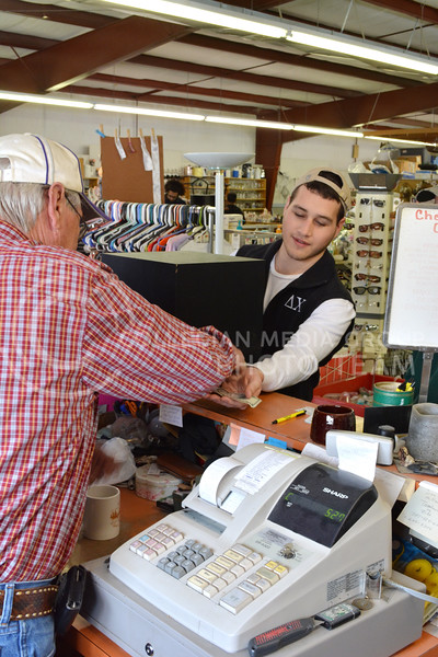 Davis Millard, Freshman in Criminology, purchases a subwoofer at the Grand Ol' Trunk Thrift Shop in Manhattan, KS on Feburary 15. Buying a used subwoofer was considerably less expensive than buying a new one.