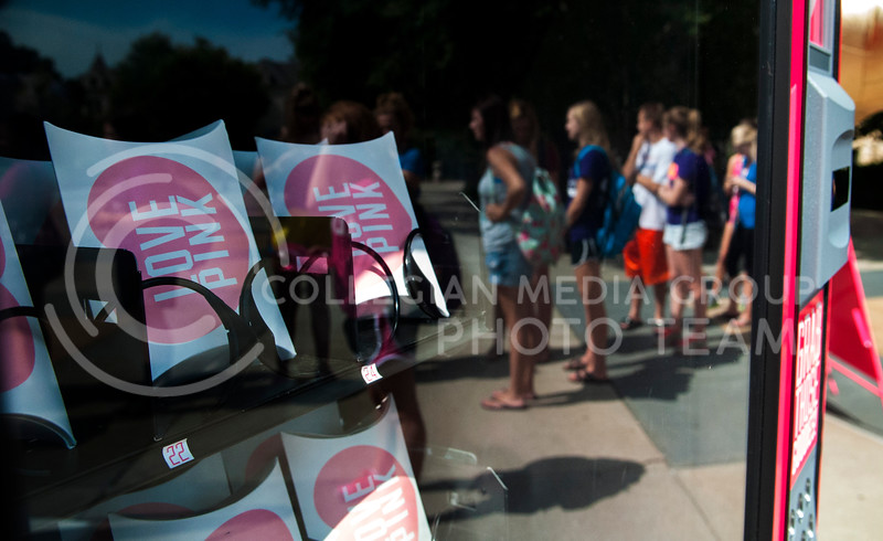 The PINK vending machine offered givaways such as PINK drawstring backpacks or giftcards.