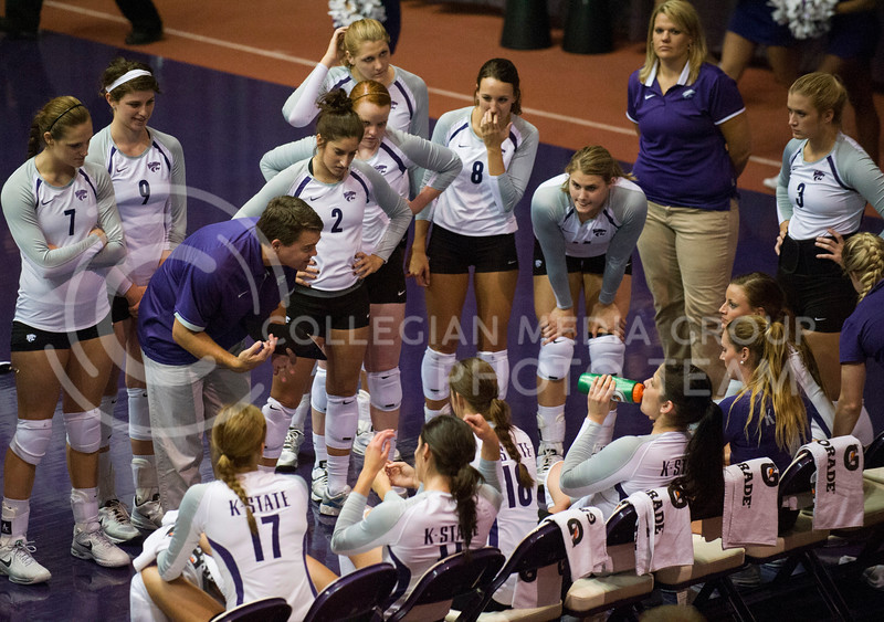 Associate Head Coach Jeff Grove gives talks to the women during the Sept. 24 game against the Italian U-23 National Team in Ahearn field house.