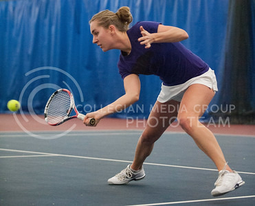 Petra Niedermayerova sends one back over the net on March 8, 2014 at the Body First Tennis and Fitness Center.