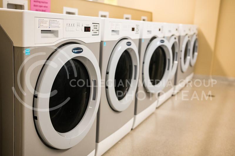 Washing machines in Wefald Hall on Feb. 1, 2017. (John Benfer | Royal Purple)
