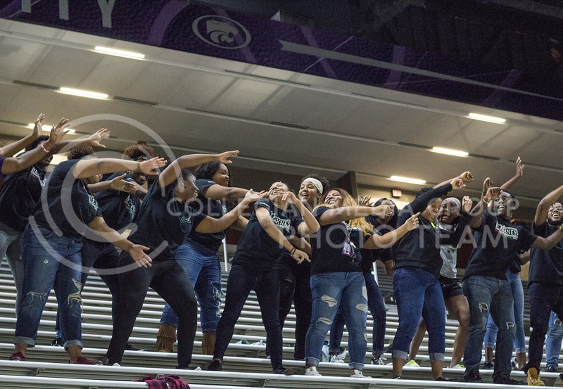 Black Student Union gives a performance at Pant the Chant at Bramalge on October 15th, 2017. (Kelly Pham | Collegian Media Group)
