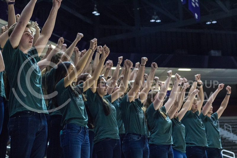 Sigma Kappa, FarmHouse, and Sigma Phi Epsilon at Pant the Chant at Bramlage on October 15th, 2017. (Kelly Pham | Collegian Media Group)
