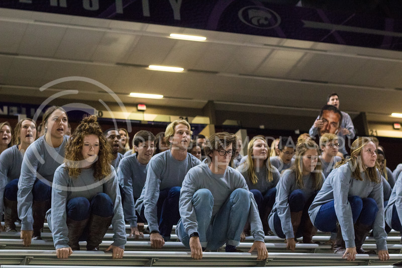 Alpha Delta Pi, Delta Sigma Phi, and Beta Upsilon Chi prepare to wow the crowd with their Pant the Chant performance at Bramlage on October 15th, 2017. (Kelly Pham | Collegian Media Group)